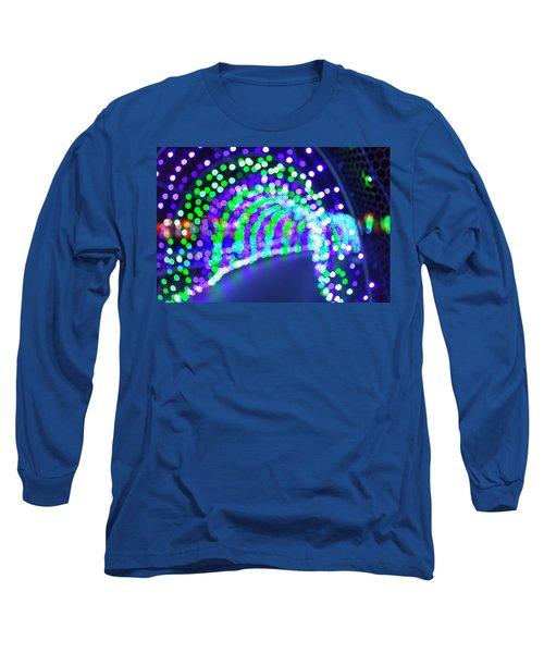 Christmas Lights Decoration Blurred Defocused Bokeh Long Sleeve T-Shirt