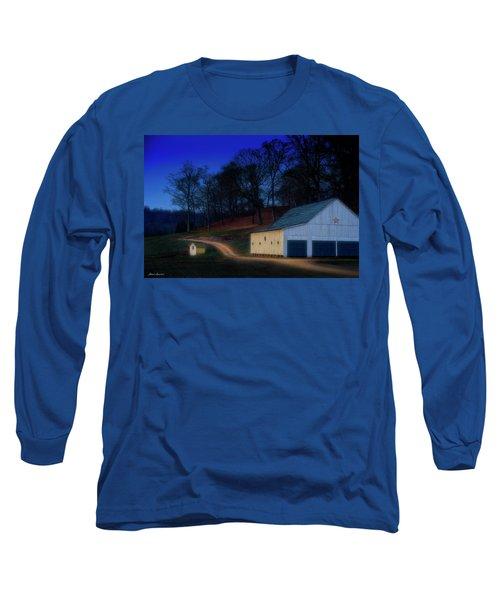 Christmas On The Farm Long Sleeve T-Shirt by Glenn Gemmell