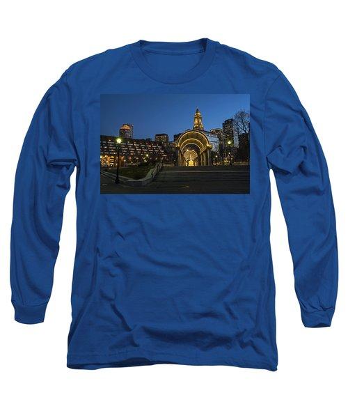 Christopher Columbus Park Boston Ma Trellis Custom House Long Sleeve T-Shirt