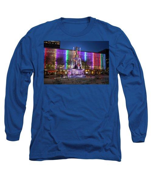 Cincinnati Fountain Square Long Sleeve T-Shirt by Scott Meyer