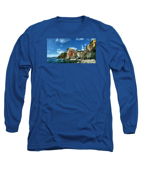 Cinque Terre - View Of Riomaggiore Long Sleeve T-Shirt