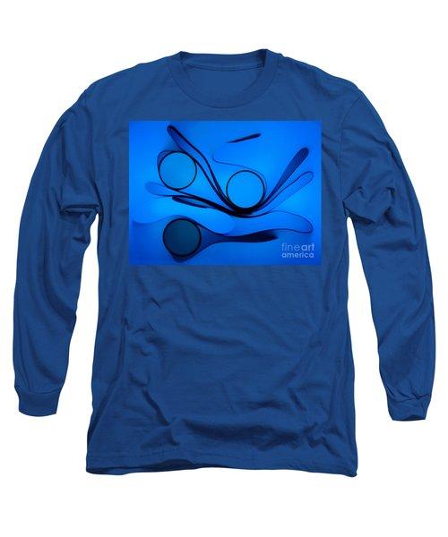 Circles And Shadows Long Sleeve T-Shirt by Trena Mara