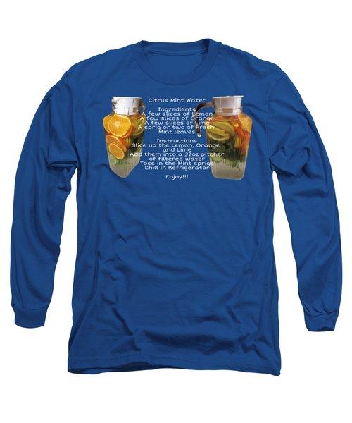 Citrus Mint Water Long Sleeve T-Shirt