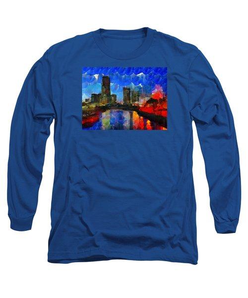 City Living - Tokyo - Skyline Long Sleeve T-Shirt by Sir Josef - Social Critic - ART
