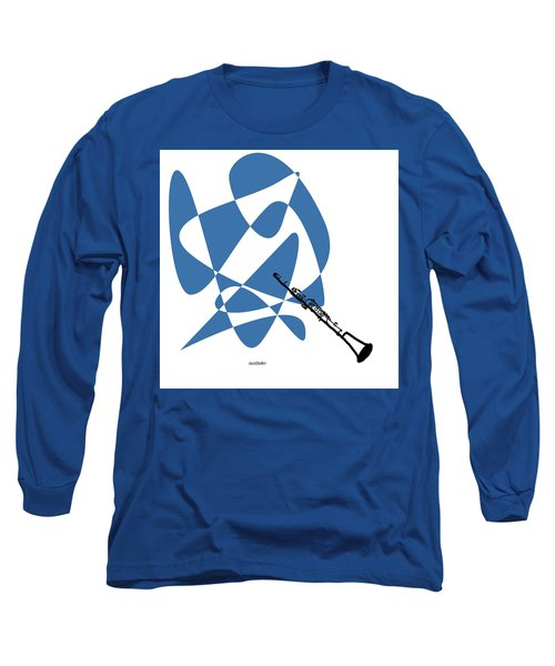 Clarinet In Blue Long Sleeve T-Shirt