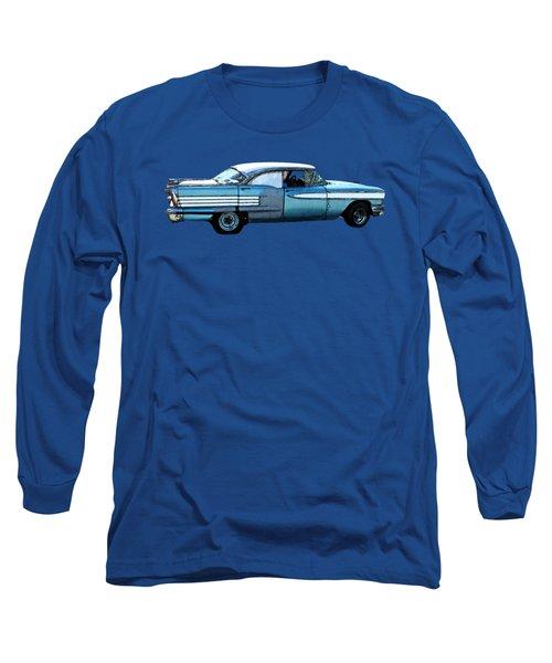 Classic Blue Motor Art Long Sleeve T-Shirt