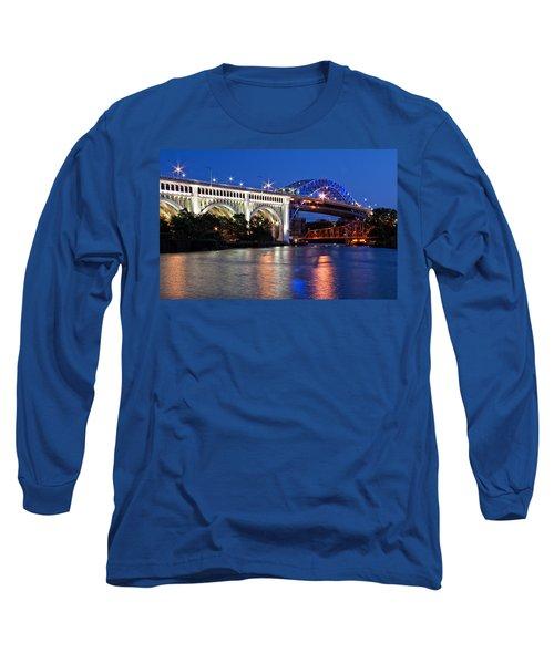 Cleveland Colored Bridges Long Sleeve T-Shirt