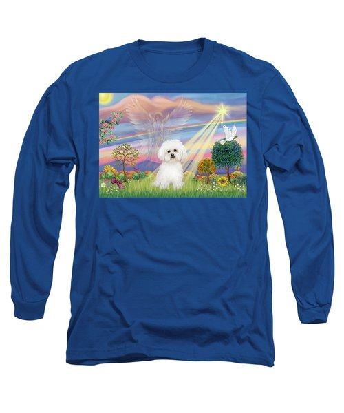 Cloud Angel And Bichon Frise Long Sleeve T-Shirt
