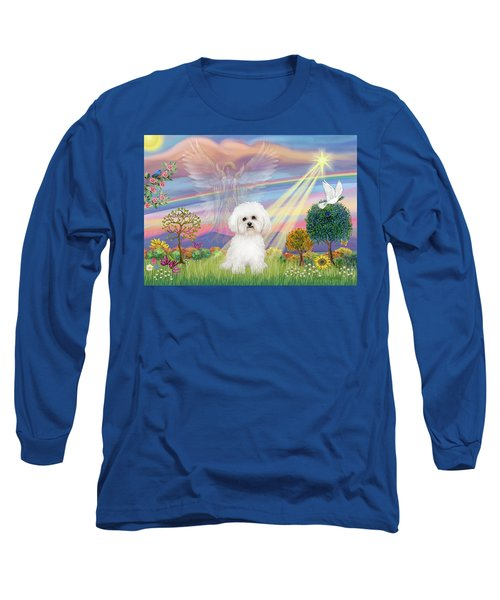 Cloud Angel And Bichon Frise Long Sleeve T-Shirt