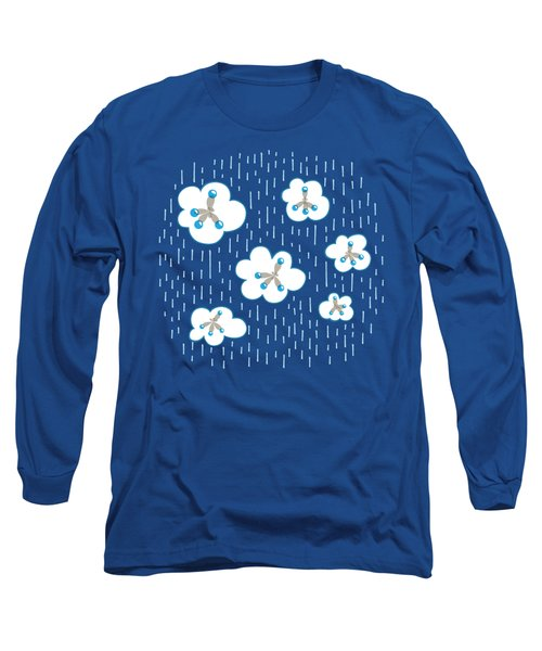 Clouds And Methane Molecules Pattern Long Sleeve T-Shirt