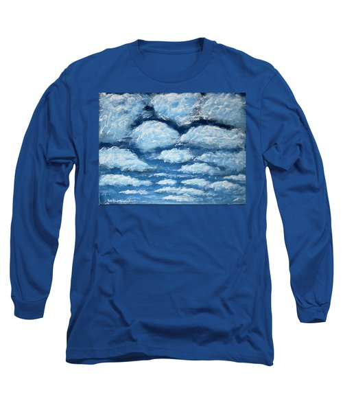 Long Sleeve T-Shirt featuring the painting Clouds by Antonio Romero