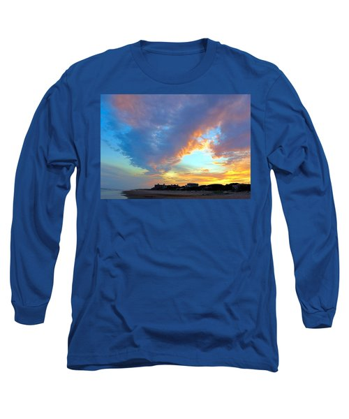 Clouds At Sunset Long Sleeve T-Shirt by Betty Buller Whitehead