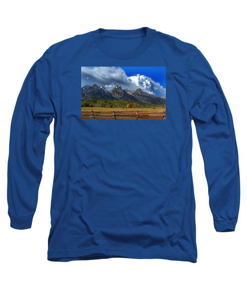 Long Sleeve T-Shirt featuring the photograph Clouds Rising by Diane E Berry