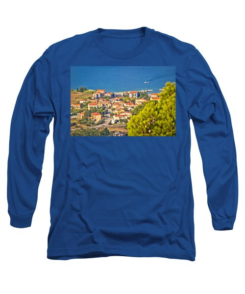 Coastal Village On Island Of Pasman Long Sleeve T-Shirt