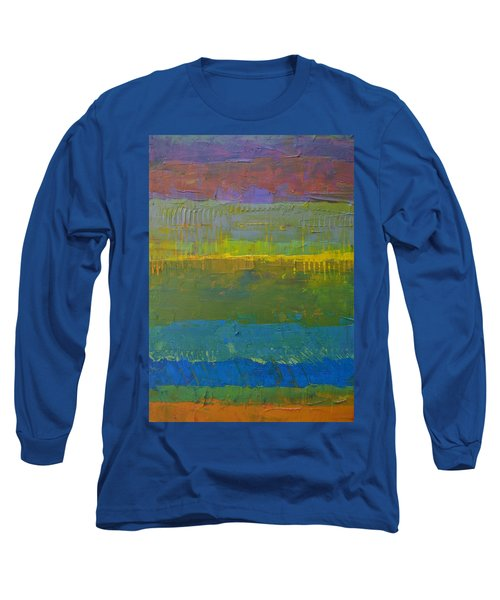 Color Collage Five Long Sleeve T-Shirt by Michelle Calkins