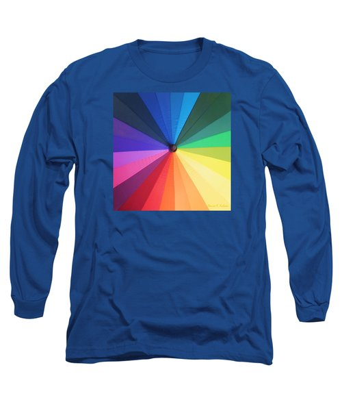 Color Wheel Long Sleeve T-Shirt by Denise Fulmer