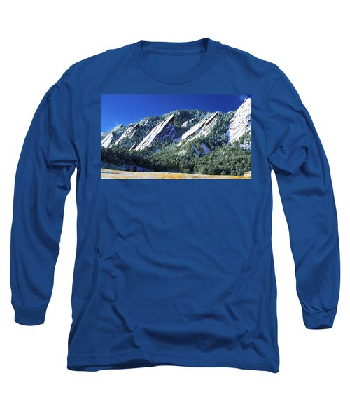 All Fivecolorado Flatirons Long Sleeve T-Shirt by Marilyn Hunt