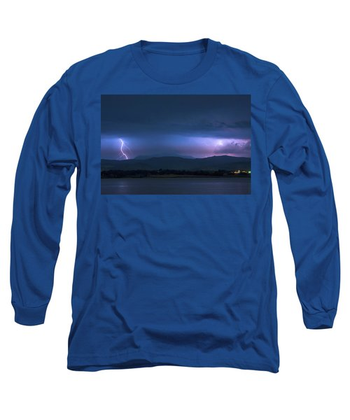 Long Sleeve T-Shirt featuring the photograph Colorado Rocky Mountain Foothills Storm by James BO Insogna