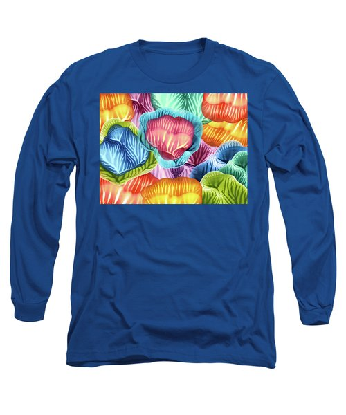 Colorful Abstract Flower Petals Long Sleeve T-Shirt