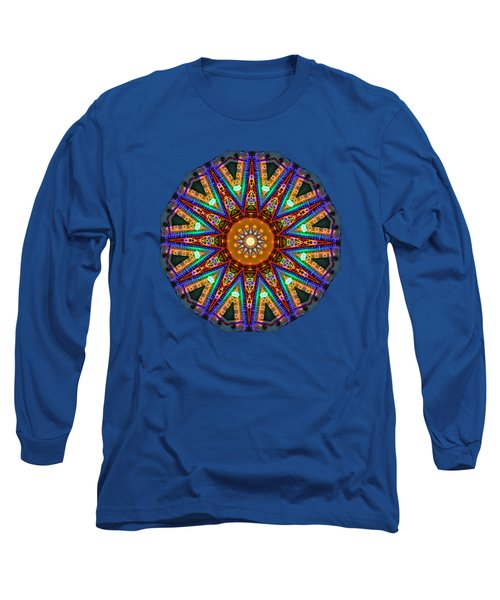 Long Sleeve T-Shirt featuring the photograph Colorful Christmas Kaleidoscope By Kaye Menner by Kaye Menner