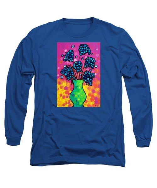 Colorful Flower Bouquet By Sharon Cummings Long Sleeve T-Shirt by Sharon Cummings
