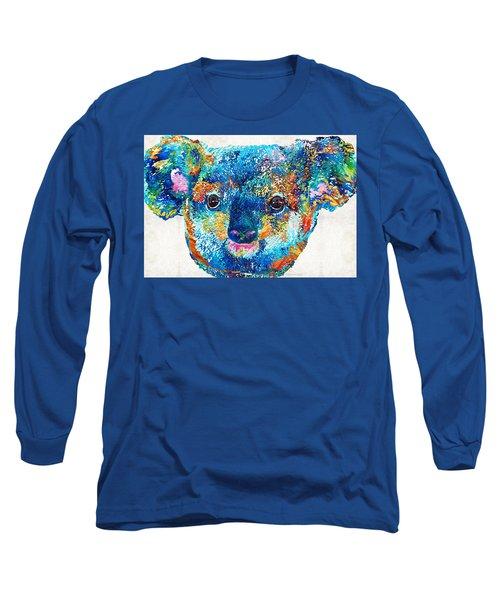 Colorful Koala Bear Art By Sharon Cummings Long Sleeve T-Shirt