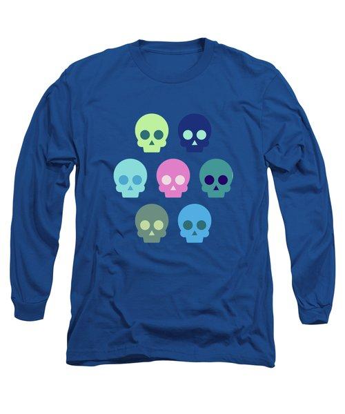 Colorful Skull Cute Pattern Long Sleeve T-Shirt