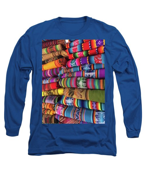Colorful Tablecloths Long Sleeve T-Shirt