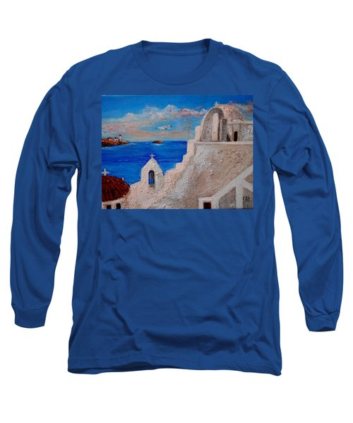 Colors Of Greece Long Sleeve T-Shirt