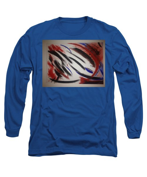 Long Sleeve T-Shirt featuring the painting Abstract Colors by Sheila Mcdonald