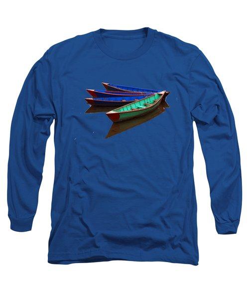 Nepalese Fishing Boats  Long Sleeve T-Shirt