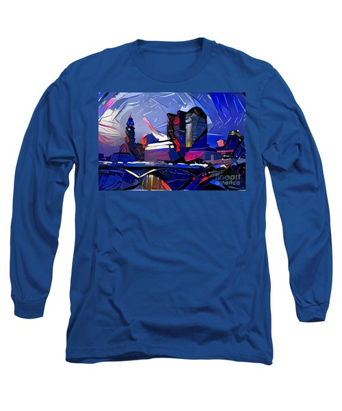 Columbus Skyline  Long Sleeve T-Shirt