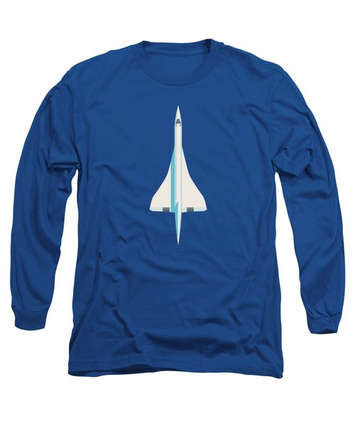 Concorde Jet Airliner - Blue Long Sleeve T-Shirt
