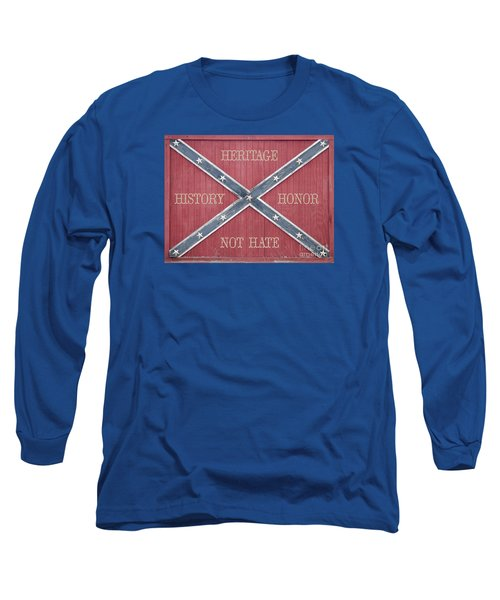 Confederate Flag On Wooden Door Long Sleeve T-Shirt