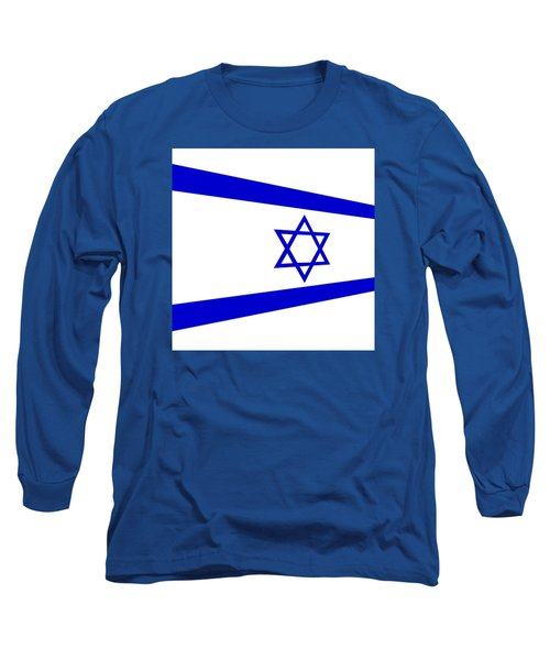 Contemporary Flag Of Israel Long Sleeve T-Shirt