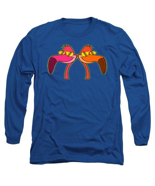 Cool As Flamingos Long Sleeve T-Shirt by Stephanie Brock