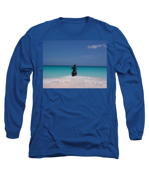 Long Sleeve T-Shirt featuring the photograph Cool Off Man by Mary-Lee Sanders