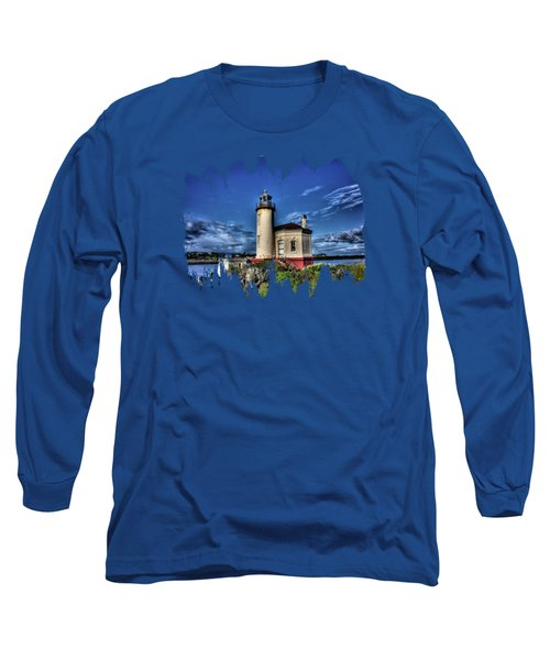 Coquille River Lighthouse Long Sleeve T-Shirt by Thom Zehrfeld