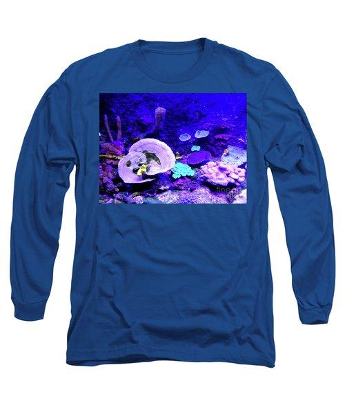 Long Sleeve T-Shirt featuring the digital art Coral Art by Francesca Mackenney