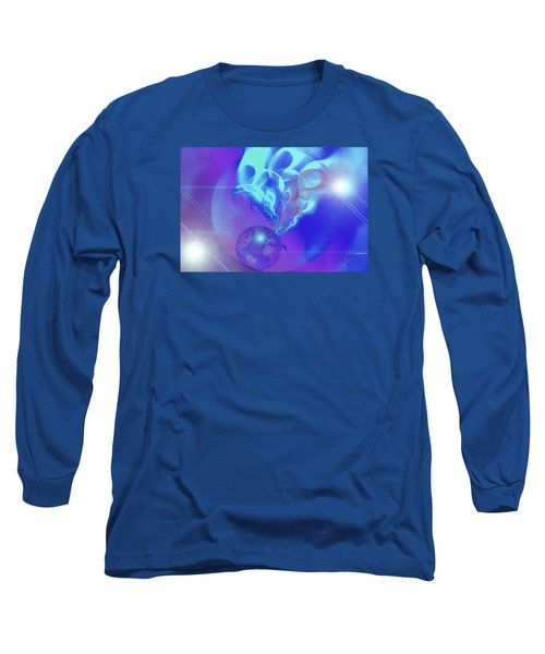 Cosmic Wave Long Sleeve T-Shirt by Ute Posegga-Rudel