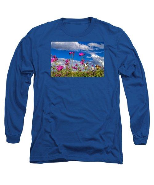 Cosmos Sky Long Sleeve T-Shirt by Alana Thrower