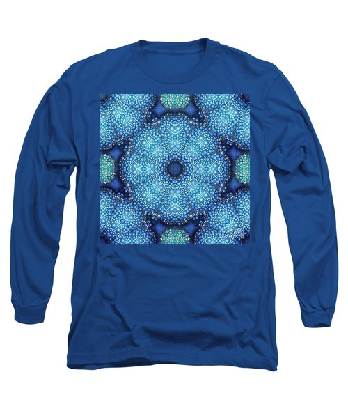 Long Sleeve T-Shirt featuring the drawing Cote D'azur by Mo T