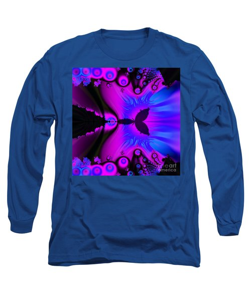 Cotton Candyland Fractal Long Sleeve T-Shirt