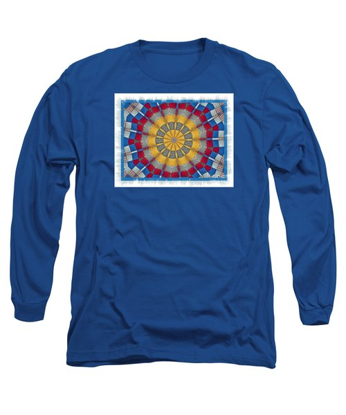 Long Sleeve T-Shirt featuring the photograph Country Quilt Wheel by Shirley Moravec