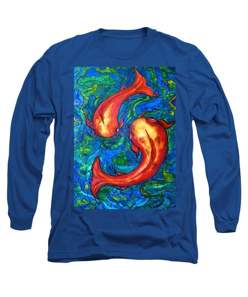 Long Sleeve T-Shirt featuring the painting Courtship  by Rae Chichilnitsky