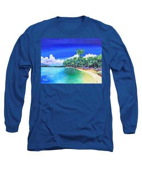 Crescent Beach Long Sleeve T-Shirt by Patricia Piffath