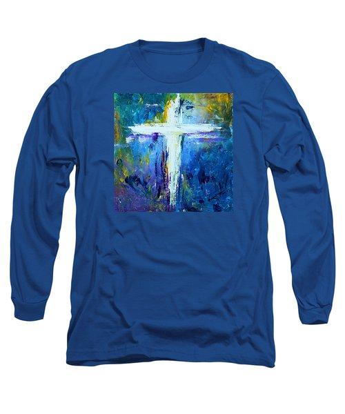 Cross - Painting #4 Long Sleeve T-Shirt by Kume Bryant
