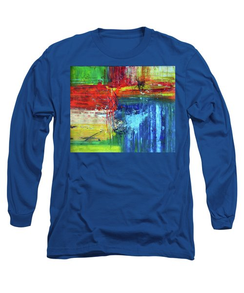 Long Sleeve T-Shirt featuring the painting Crossroads by Everette McMahan jr