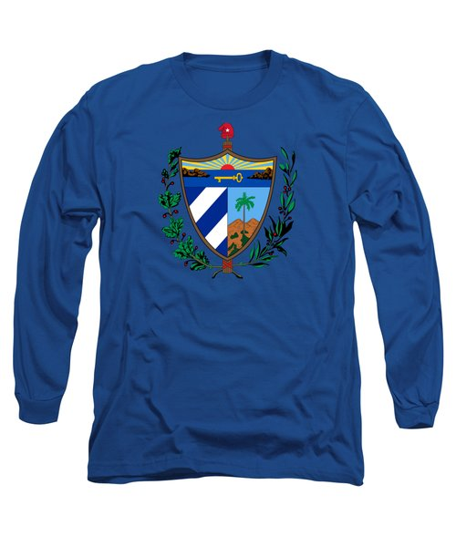 Cuba Coat Of Arms Long Sleeve T-Shirt by Movie Poster Prints