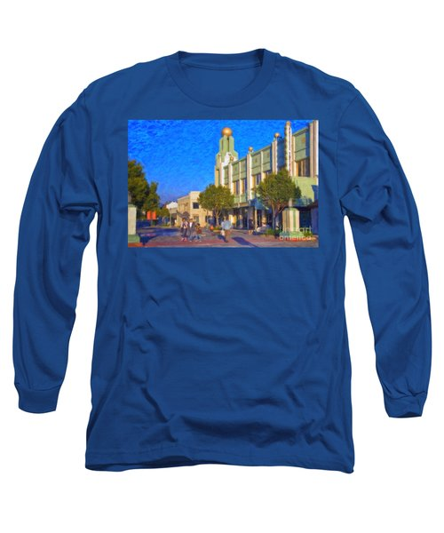Culver City Plaza Theaters   Long Sleeve T-Shirt by David Zanzinger